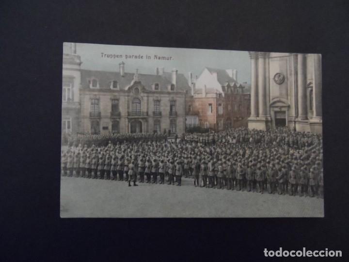 Militaria: TROPAS IMPERIALES ALEMANAS EN PARADA MILITAR EN BELGRADO-NAMUR.BELGICA. AÑOS 1914-18 - Foto 2 - 182788248