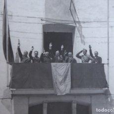 Militaria: FOTOGRAFÍA ALCALDE Y OFICIALES DEL EJÉRCITO NACIONAL. GUERRA CIVIL. Lote 182788668