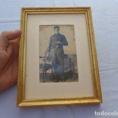 Militaria: * ANTIGUA FOTOGRAFIA DE MILICIANO REPUBLICANO DE VALENCIA CON CHAPA IDENTIFICACION, GUERRA CIVIL. ZX. Lote 182788812
