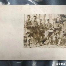 Militaria: ANTIGUA FOTOGRAFÍA POSTAL SOLDADOS CON AMETRALLADORA PRIMERA GUERRA MUNDIAL. Lote 182855890