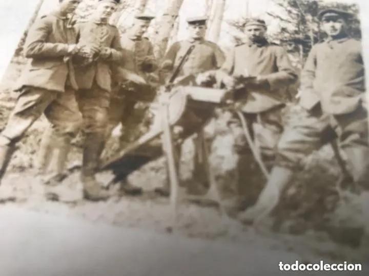 Militaria: ANTIGUA FOTOGRAFÍA POSTAL SOLDADOS CON AMETRALLADORA PRIMERA GUERRA MUNDIAL - Foto 2 - 182855890