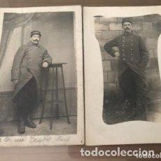 Militaria: LOTE ANTIGUAS FOTOGRAFÍAS POSTALES MILITAR SOLDADO FRANCÉS - 1914. Lote 182856642