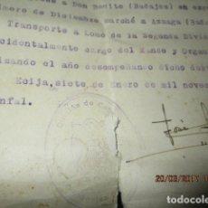 Militaria: ECIJA BADAJOZ DECLARACIIONN JURADA TENIENTE INTENDENCIA GUERRA CIVIL 1938 DIVISION CABALLERIA. Lote 182919061