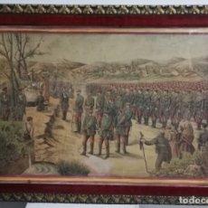 Militaria: LITOGRAFÍA CARLISTA SIGLO XIX, REPRESENTA UNA MISA DE CAMPAÑA DEL EJÉRCITO DEL NORTE DURANTE LA TERC. Lote 183060887