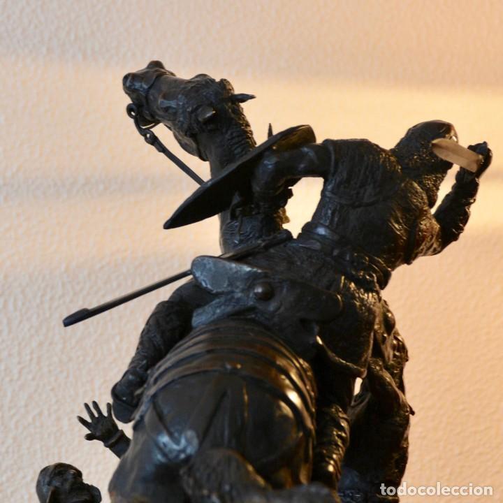 Militaria: EL CID CAMPEADOR EN LA BATALLA DE BAIREN escultura en bronce - Foto 4 - 245473810