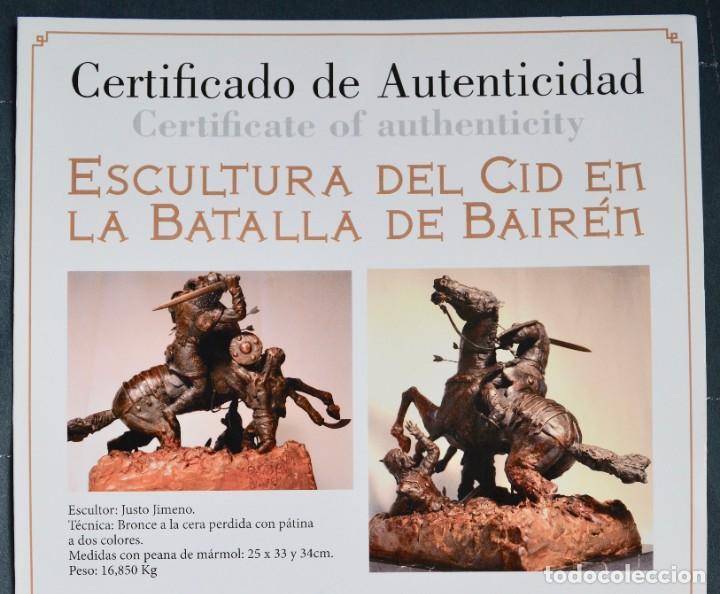 Militaria: EL CID CAMPEADOR EN LA BATALLA DE BAIREN escultura en bronce - Foto 6 - 245473810