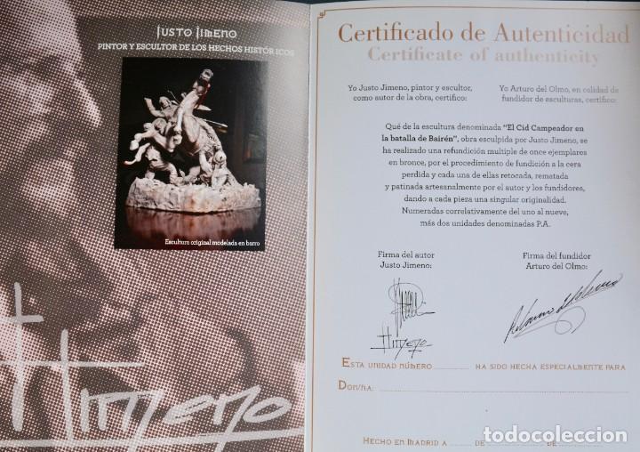 Militaria: EL CID CAMPEADOR EN LA BATALLA DE BAIREN escultura en bronce - Foto 8 - 245473810
