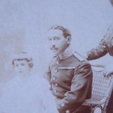 Militaria: FOTOGRAFÍA TENIENTE ESTADO MAYOR DEL EJÉRCITO ESPAÑOL. JOSÉ MARIA BAIGORRI Y AGUADO. Lote 183508098