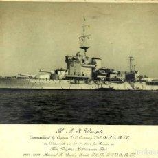 Militaria: FOTOGRAFIA ORIGINAL DEL ACORAZADO HMS WARSPITE - GRAN BRETAÑA - ALEJANDRIA 1942. Lote 183513860