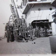 Militaria: FOTOGRAFÍA MARINEROS CRUCERO CANARIAS. 1938. Lote 183515911