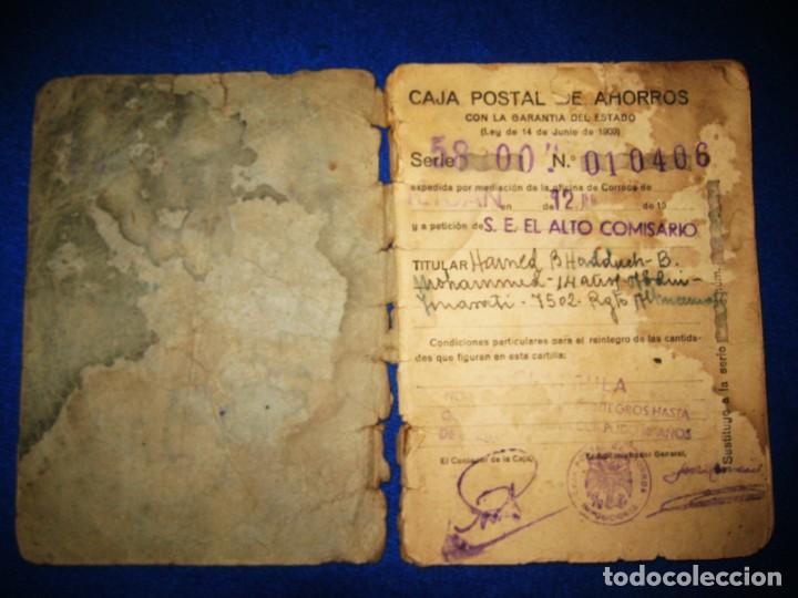 Militaria: Antigua libreta de Ahorros. Tetuán. Protectorado Español en Marruecos. Guerra Civil - División Azul - Foto 2 - 183543527