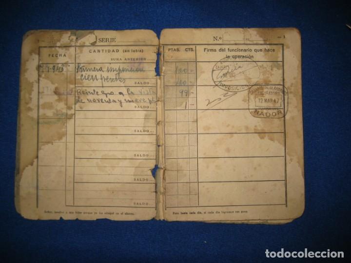 Militaria: Antigua libreta de Ahorros. Tetuán. Protectorado Español en Marruecos. Guerra Civil - División Azul - Foto 3 - 183543527