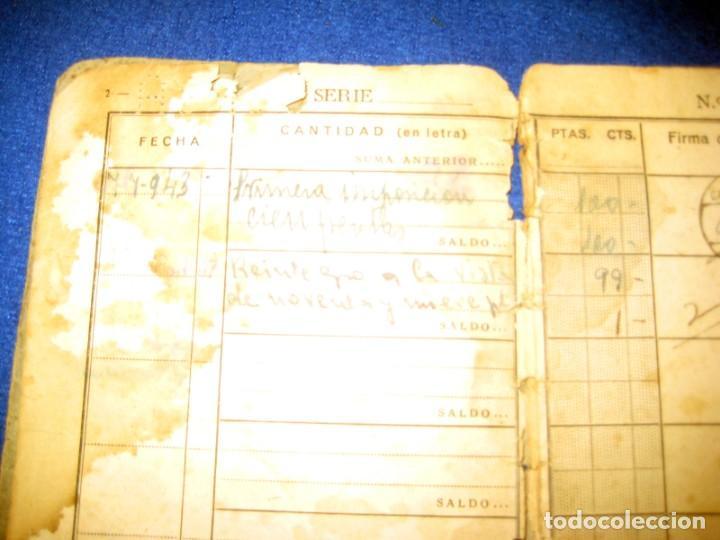 Militaria: Antigua libreta de Ahorros. Tetuán. Protectorado Español en Marruecos. Guerra Civil - División Azul - Foto 4 - 183543527