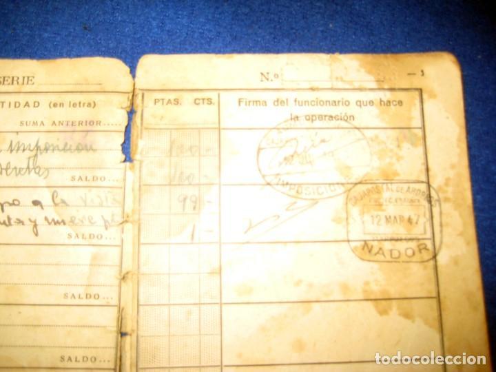 Militaria: Antigua libreta de Ahorros. Tetuán. Protectorado Español en Marruecos. Guerra Civil - División Azul - Foto 5 - 183543527