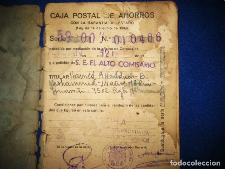 Militaria: Antigua libreta de Ahorros. Tetuán. Protectorado Español en Marruecos. Guerra Civil - División Azul - Foto 7 - 183543527