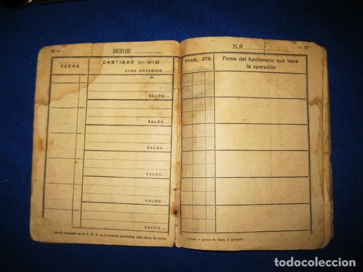 Militaria: Antigua libreta de Ahorros. Tetuán. Protectorado Español en Marruecos. Guerra Civil - División Azul - Foto 10 - 183543527