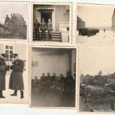 Militaria: LOTE DE 6 FOTOS DE SOLDADOS DE LA WEHRMACHT - (NAZISMO, SEGUNDA GUERRA MUNDIAL). Lote 183622448