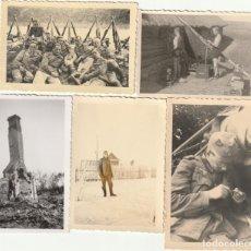 Militaria: LOTE DE 5 FOTOS DE SOLDADOS DE LA WEHRMACHT Y ESCENARIOS BÉLICOS - (NAZISMO, SEGUNDA GUERRA MUNDIAL). Lote 183622525