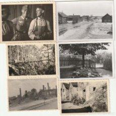 Militaria: LOTE DE 6 FOTOS DE SOLDADOS DE LA WEHRMACHT Y ESCENARIOS BÉLICOS - (NAZISMO, SEGUNDA GUERRA MUNDIAL). Lote 183622587