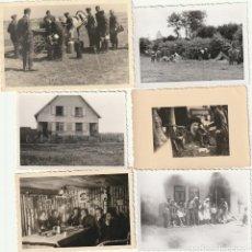 Militaria: LOTE DE 6 FOTOS DE SOLDADOS DE LA WEHRMACHT Y ESCENARIOS BÉLICOS - (NAZISMO, SEGUNDA GUERRA MUNDIAL). Lote 183674023