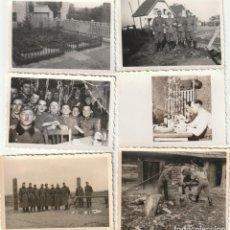 Militaria: LOTE DE 6 FOTOS DE SOLDADOS DE LA WEHRMACHT Y ESCENARIOS BÉLICOS - (NAZISMO, SEGUNDA GUERRA MUNDIAL). Lote 183674393