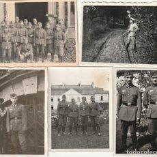 Militaria: LOTE DE 5 FOTOS DE SOLDADOS DE LA WEHRMACHT Y ESCENARIOS BÉLICOS - (NAZISMO, SEGUNDA GUERRA MUNDIAL). Lote 183674452