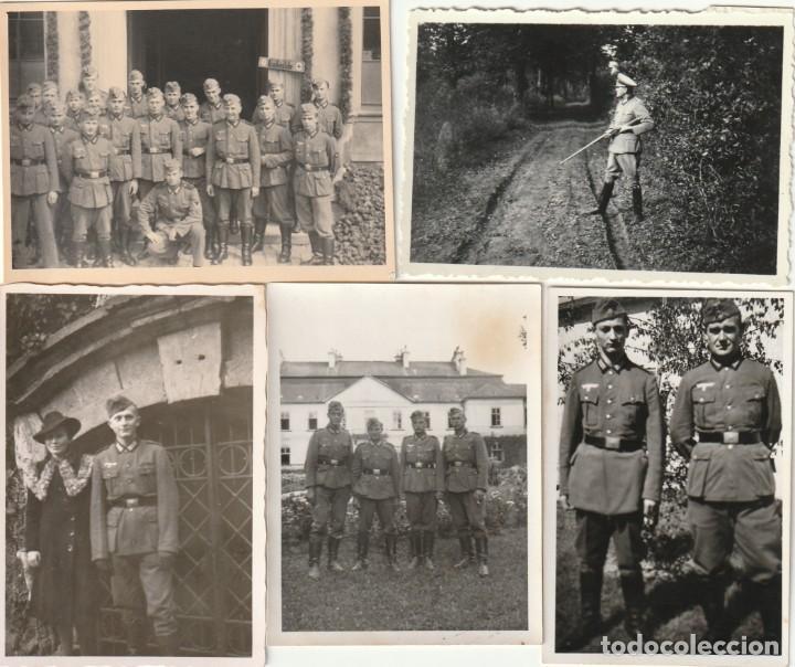 LOTE DE 5 FOTOS DE SOLDADOS DE LA WEHRMACHT Y ESCENARIOS BÉLICOS - (NAZISMO, SEGUNDA GUERRA MUNDIAL) (Militar - Fotografía Militar - II Guerra Mundial)