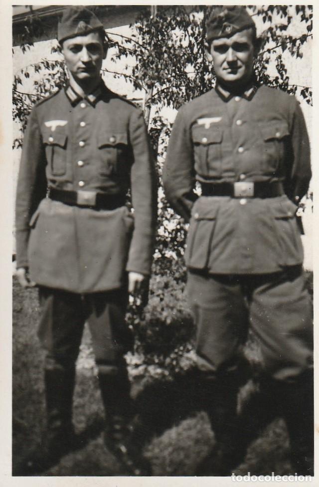 Militaria: LOTE DE 5 FOTOS DE SOLDADOS DE LA WEHRMACHT Y ESCENARIOS BÉLICOS - (NAZISMO, SEGUNDA GUERRA MUNDIAL) - Foto 3 - 183683946