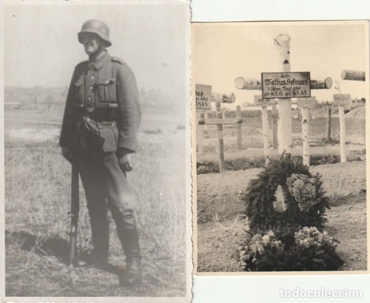 LOTE DE 2 FOTOS DE SOLDADOS DE LA WEHRMACHT Y ESCENARIOS BÉLICOS - (NAZISMO, SEGUNDA GUERRA MUNDIAL) (Militar - Fotografía Militar - II Guerra Mundial)