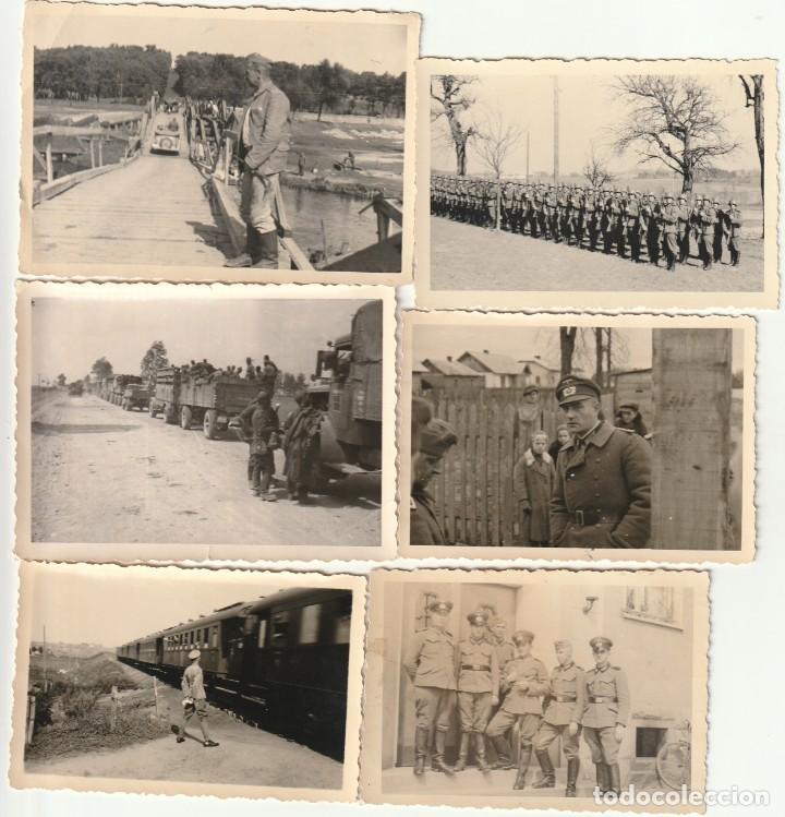 LOTE DE 6 FOTOS DE SOLDADOS DE LA WEHRMACHT Y ESCENARIOS BÉLICOS - (NAZISMO, SEGUNDA GUERRA MUNDIAL) (Militar - Fotografía Militar - II Guerra Mundial)