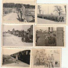 Militaria: LOTE DE 6 FOTOS DE SOLDADOS DE LA WEHRMACHT Y ESCENARIOS BÉLICOS - (NAZISMO, SEGUNDA GUERRA MUNDIAL). Lote 183684018