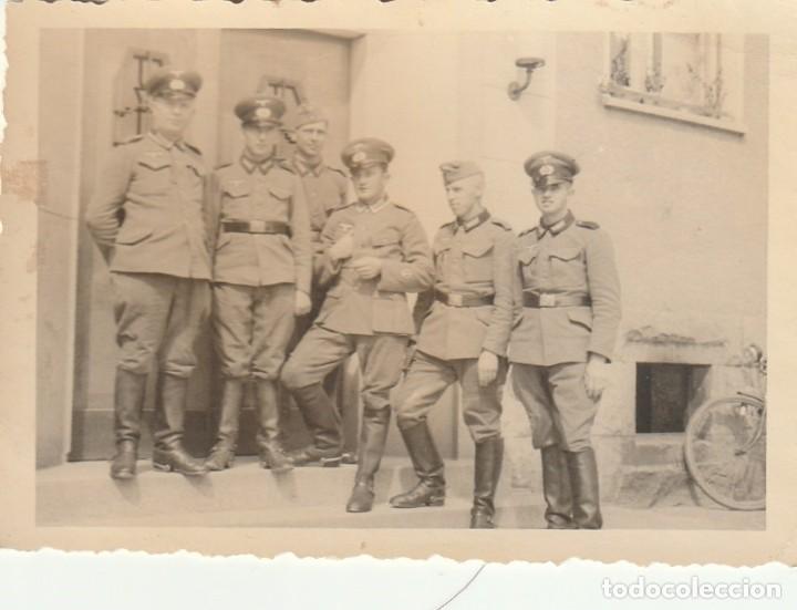 Militaria: LOTE DE 6 FOTOS DE SOLDADOS DE LA WEHRMACHT Y ESCENARIOS BÉLICOS - (NAZISMO, SEGUNDA GUERRA MUNDIAL) - Foto 6 - 183684018