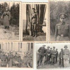 Militaria: LOTE DE 5 FOTOS DE SOLDADOS DE LA WEHRMACHT Y ESCENARIOS BÉLICOS - (NAZISMO, SEGUNDA GUERRA MUNDIAL). Lote 183684078
