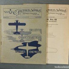 Militaria: LOTE DE DOS NÚMEROS DE LA REVISTA DE FUERZAS AÉREAS DEL ESTADO MAYOR.ESPECIAL 1938. Lote 183704580