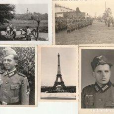 Militaria: LOTE DE 5 FOTOS DE SOLDADOS DE LA WEHRMACHT Y ESCENARIOS BÉLICOS - (NAZISMO, SEGUNDA GUERRA MUNDIAL). Lote 183743101