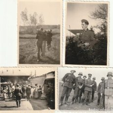 Militaria: LOTE DE 4 FOTOS DE SOLDADOS DE LA WEHRMACHT Y ESCENARIOS BÉLICOS - (NAZISMO, SEGUNDA GUERRA MUNDIAL). Lote 183743146