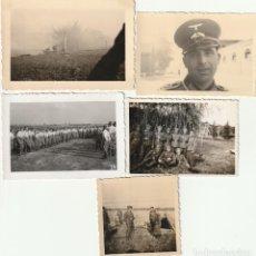 Militaria: LOTE DE 5 FOTOS DE SOLDADOS DE LA WEHRMACHT Y ESCENARIOS BÉLICOS - (NAZISMO, SEGUNDA GUERRA MUNDIAL). Lote 183743345