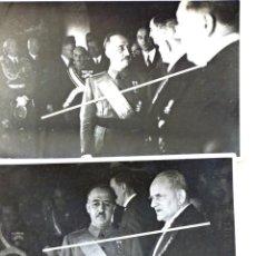 Militaria: SALAMANCA. RECEPCIÓN DEL EMBAJADOR ALEMAN DEL REICH ANTE FRANCO. 1937. Lote 183799296