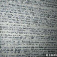Militaria: CONFERENCIA ESCRITO DE CARLOS HERRERO SOBRE ALMIRANTE CARRERO BLANCO FALLECIMIENTO EN EXPLOSION. Lote 184127740