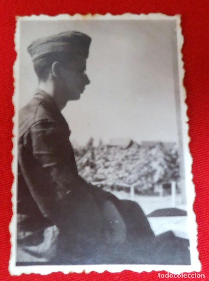 DIVISIÓN AZUL, SOLDADO ESPAÑOL EN EL FRENTE DE RUSIA AÑO 43 (Militar - Fotografía Militar - II Guerra Mundial)
