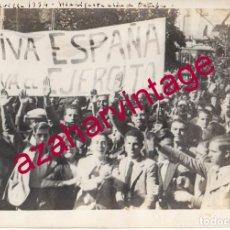 Militaria: SEVILLA, 1934, FALANGE, MANIFESTACION DE OCTUBRE, MAGNIFICA, 225X165MM. Lote 184177181