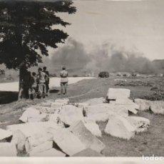 Militaria: RARA FOTO DE LOS EFECTOS DE UN BOMBARDEO NACIONAL - FRENTE DE ASTURIAS (GUERRA CIVIL, REPÚBLICA). Lote 184274511