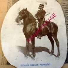Militaria: ANTIGUA FOTOGRAFIA DEL CAPITAN DE INGENIEROS NATALIO GRANDE MOHEDANO, 145X190MM, LEER. Lote 184344060