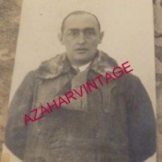 Militaria: AVIACION, 1932, CIPRIANO GRANDE FERNANDEZ BAZAN, CAPITAN FOTOGRAFO PATRULLA ATLANTIDA,60X80MM. Lote 184345592