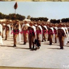 Militaria: ANTIGUA FOTOGRAFIA, DESFILE FUERZAS DE REGULARES, 176X126MM. Lote 184347508