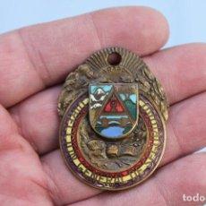 Militaria: EMBLEMA REPUBLICANO POLICIA DIRECCION GENERAL DE SEGURIDAD CONSEJO DE ARAGON ANARQUISTA GUERRA CIVIL. Lote 184765080