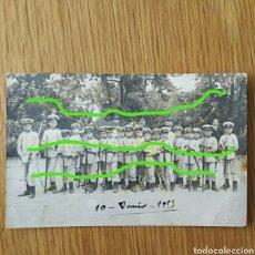 Militaria: MUY RARA FOTO POSTAL - BATALLON INFANTIL - LA CORUÑA 1913 PIEZA UNICA - EJERCITO ESPAÑOL GALICIA. Lote 158929730