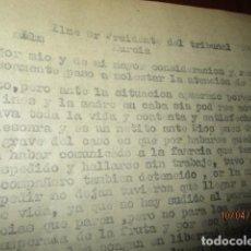 Militaria: CARTA ROGATIVA LIVERTAD A PRESIDENTE TRIBUNAL AUDIENCIA MURCIA VECINO DE ALCANTARILLA EN PRISION. Lote 185660195