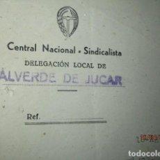 Militaria: CARTA A CARLOS HERRERO VALVERDE DEL JUCAR CENTRAL SINDICALISTA 1942 SOBRE CAZA PERDICES ... Lote 185671682