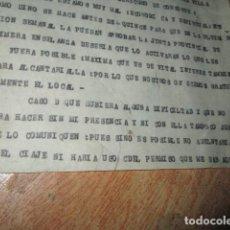 Militaria: CARTA DE CARLOS HERRERO PETICION DE ESCUELA NIÑOS EN ALCANTARILLA POST GUERRA CIVIL. Lote 185673585